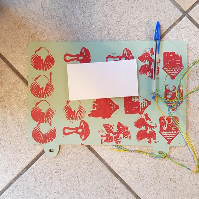 Bastelobjekte des Weihnachtsbastelns