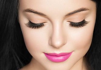 Eyes lashes extensions closed eyes woman