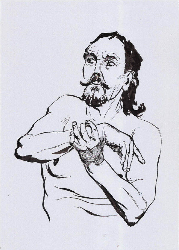Ink drawing, Romas