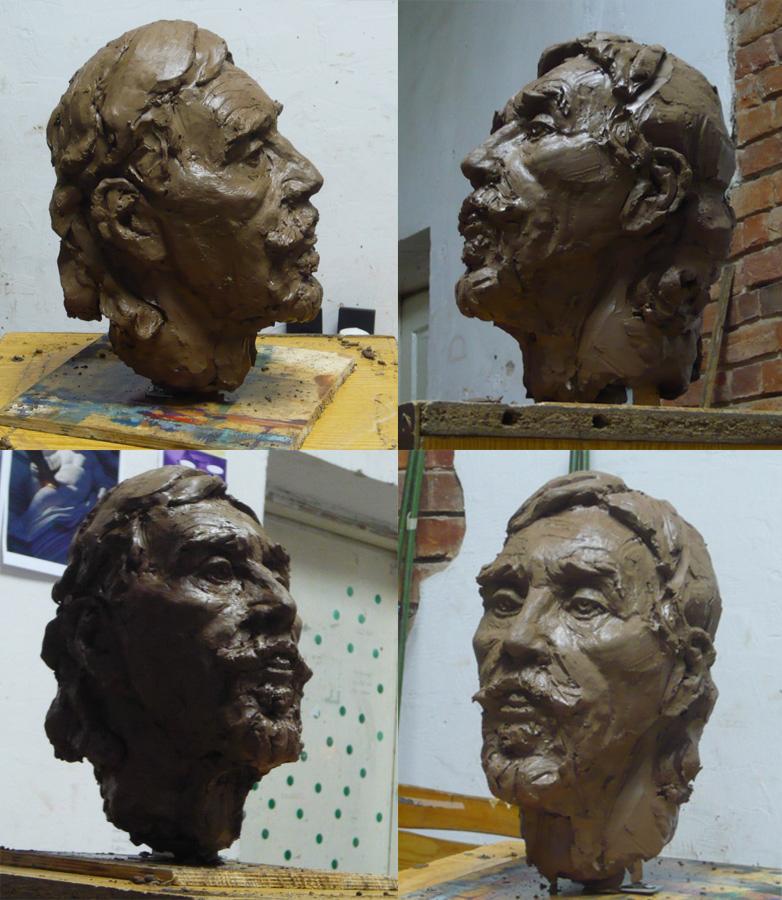 Clay portrait, Romas