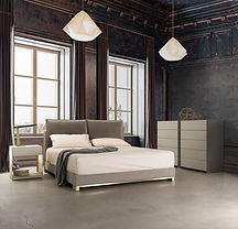 Nest King bed Absolute nightstand Brass.