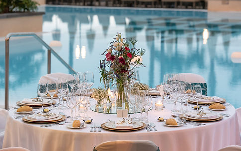outdoor wedding banquet in Tenerife, bod