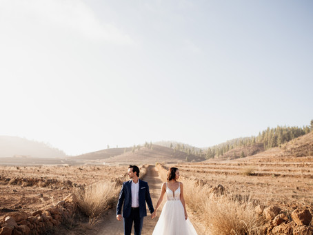 A post wedding photoshoot in the mountains of Tenerife