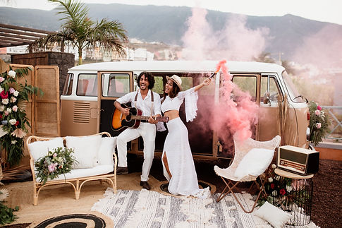 Boho Wedding in Tenerife, Licandro Weddings, destination wedding planners in tenerife