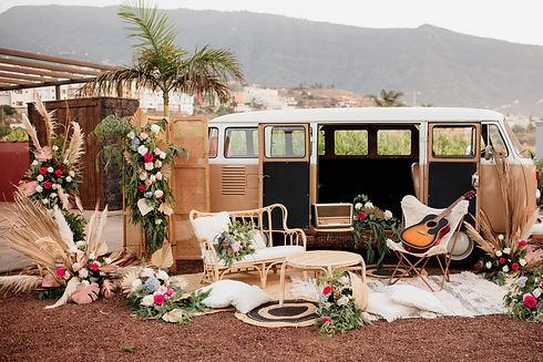 camper van for weddings in tenerife, Boh