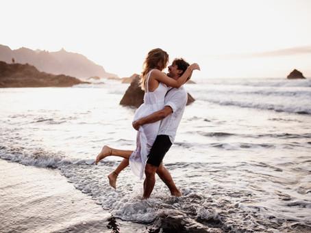 A pre wedding photoshoot on the beach in beautiful Tenerife
