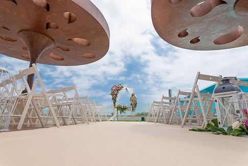 wedding ceremony in the sky bar at gf vi