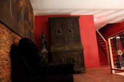Mezanino de acesso aos quartos