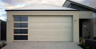 Steel Double Garage Door with Sidelite