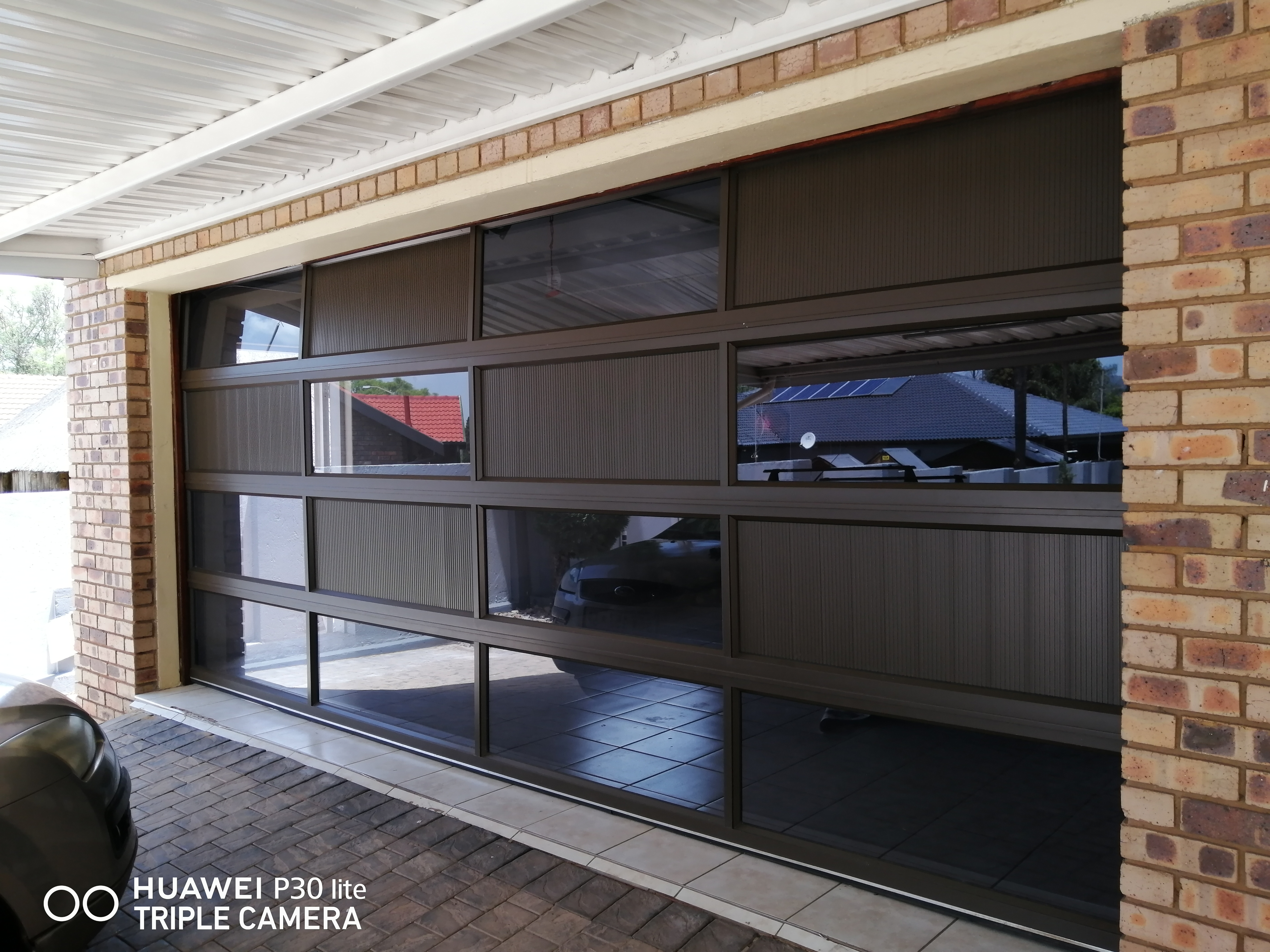 Aluminium Double Puzzle Garage Door