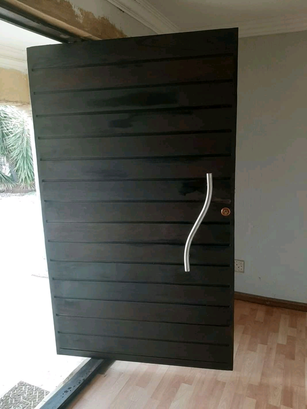 Horizontal Pivot Door