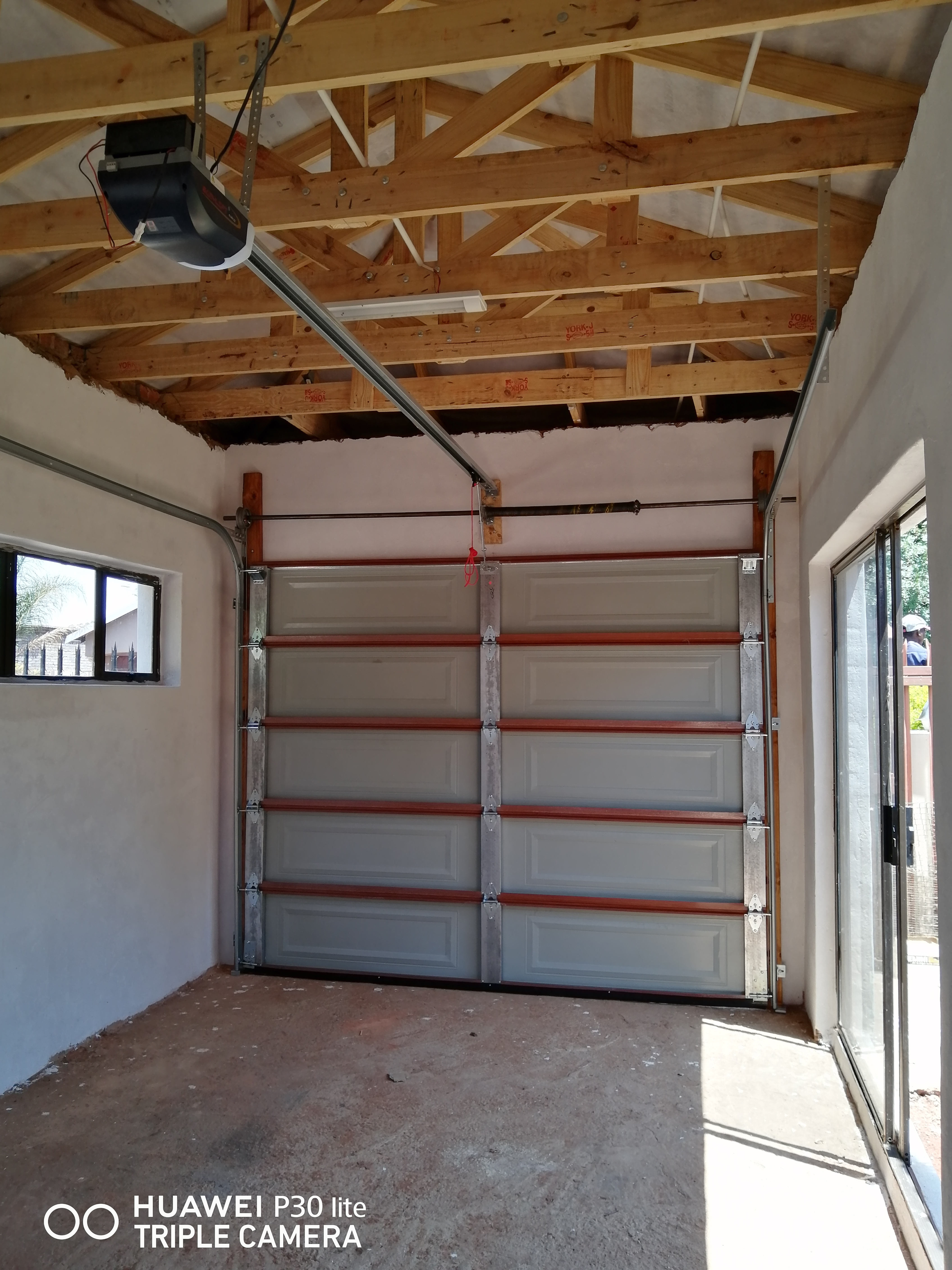 Steel Garage door with Motor