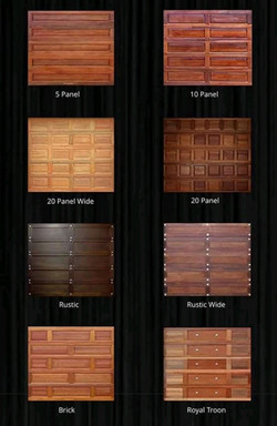 Wooden single Garage Doors