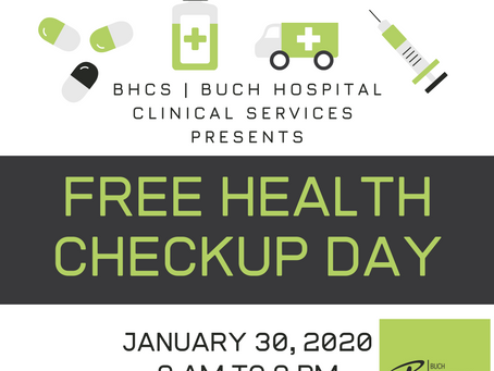 Free Health Camp | 30 Jan | BHCS Buch Villas Multan