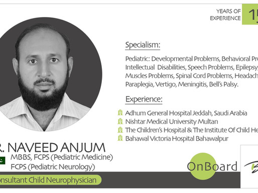 OnBoard | Dr. Naveed Anjum | Child Neurophysician.