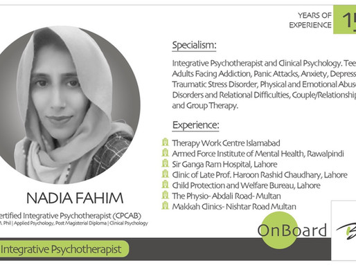 OnBoard | Nadia Fahim | Integrative Psychotherapist.