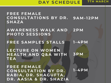 International Women's Day Schedule | Saturday Mar 7 at BHCS.