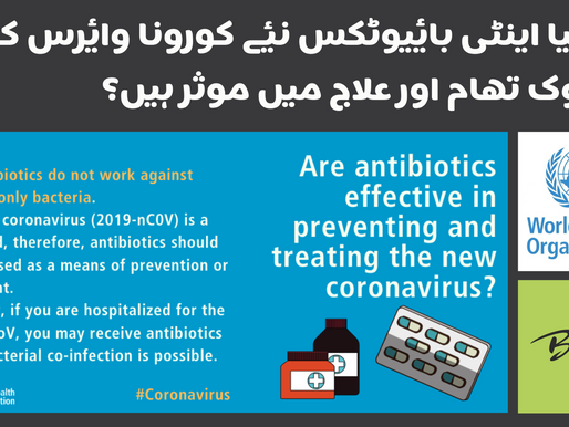 Are antibiotics effective in preventing and treating the new coronavirus?