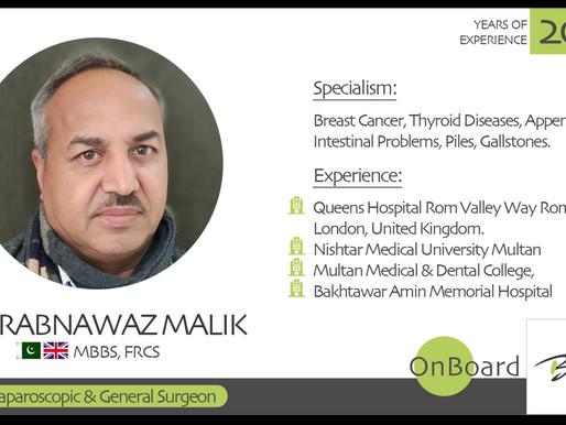 OnBoard | Dr. Rabnawaz Malik | Laparoscopic & General Surgeon.