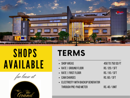 Shops Available for Lease at THE GRAND