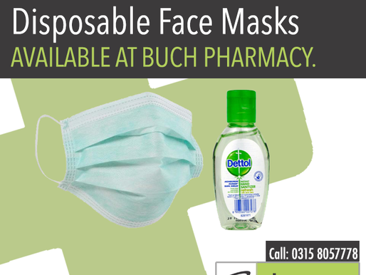 Hand Sanitizer and Disposable Face Masks