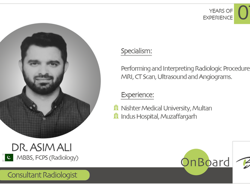 OnBoard | Dr. Asim Ali | Consultant Radiologist.