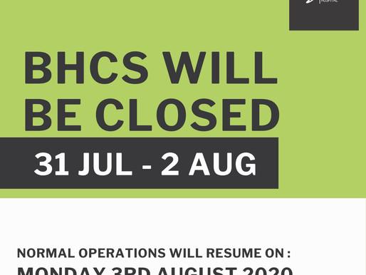 BHCS | Closed | Eid-Ul-Adha