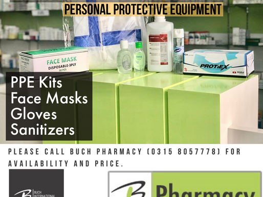 Personal Protective Equipment - Limited Availability