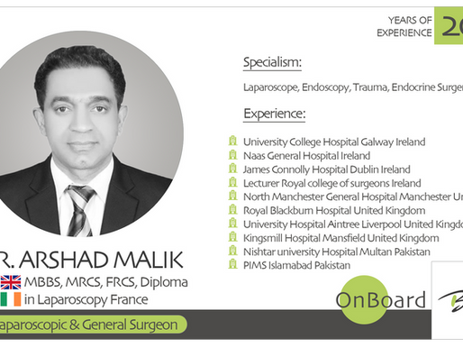 OnBoard | Dr. Arshad Malik | Laparoscopic & General Surgeon.