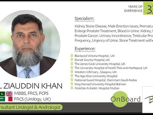 OnBoard | Dr. Ziauddin Khan | Urologist