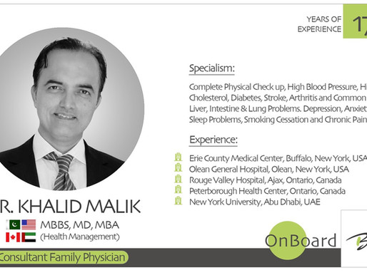 OnBoard | Dr. Khalid Malik | Consultant Family Physician.