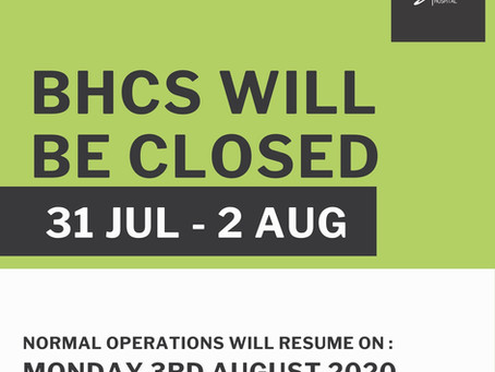 BHCS | Closed | Eid-Ul-Adha