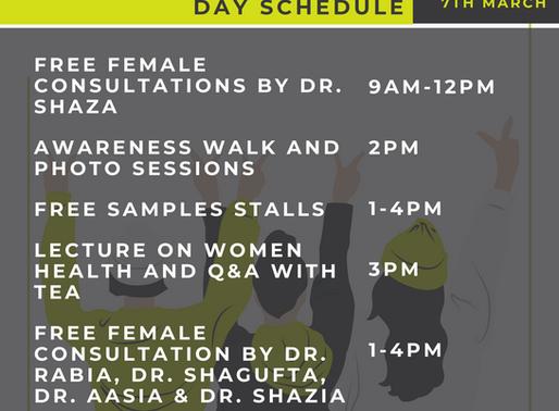 International Women's Day Schedule | Saturday Mar 7 at BHCS.