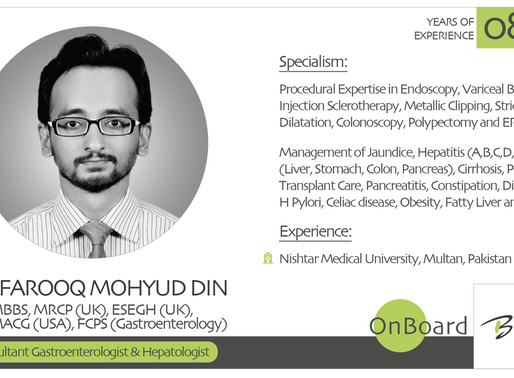 OnBoard | Dr. Farooq Mohyud Din  | Consultant Gastroenterologist & Hepatologist .