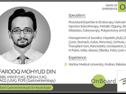 OnBoard | Dr. Farooq Mohyud Din  | Consultant Gastroenterologist & Hepatologist .