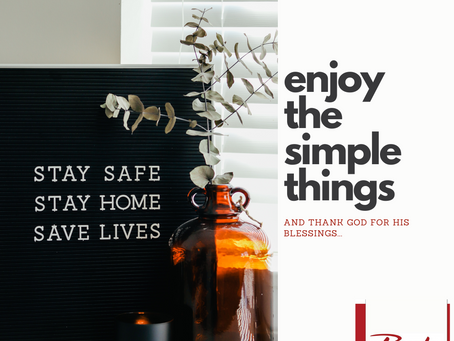 Enjoy the simple things...