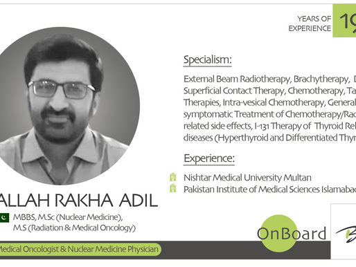 OnBoard | Dr. Allah Rakha Adil | Oncologist.