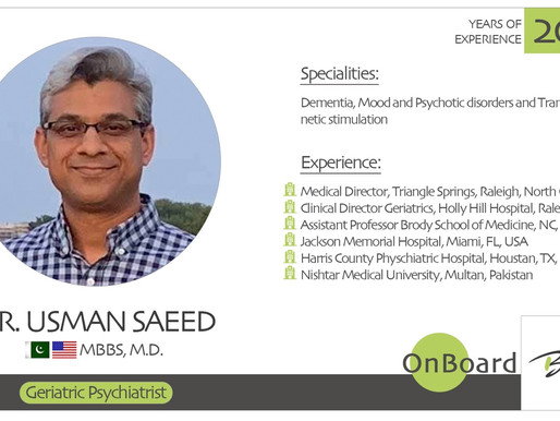OnBoard | Dr. Usman Saeed | Geriatric Psychiatrist.