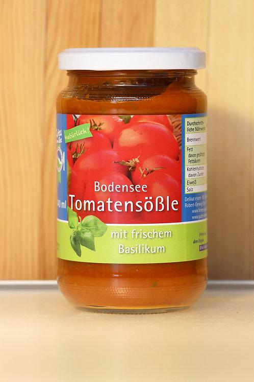 Bodensee Tomatensößle mit frischem Basilikum