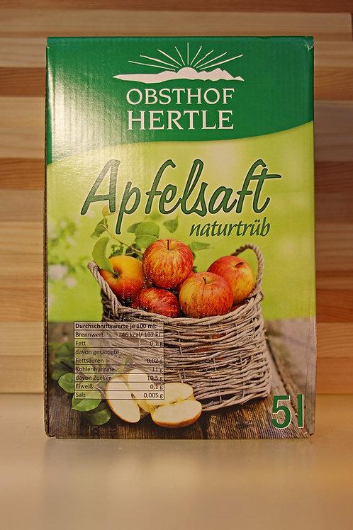 Apfelsaft vom Obsthof Hertle (naturtrüb)
