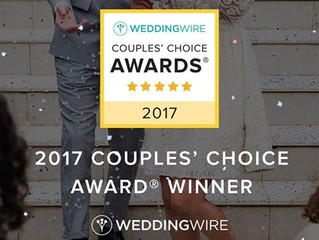 2017 Couple's Choice Award from Wedding Wire.