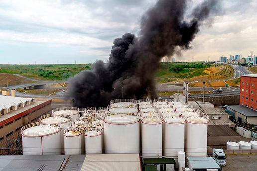 Energy Storage Tanks Fire-123rf-79447748
