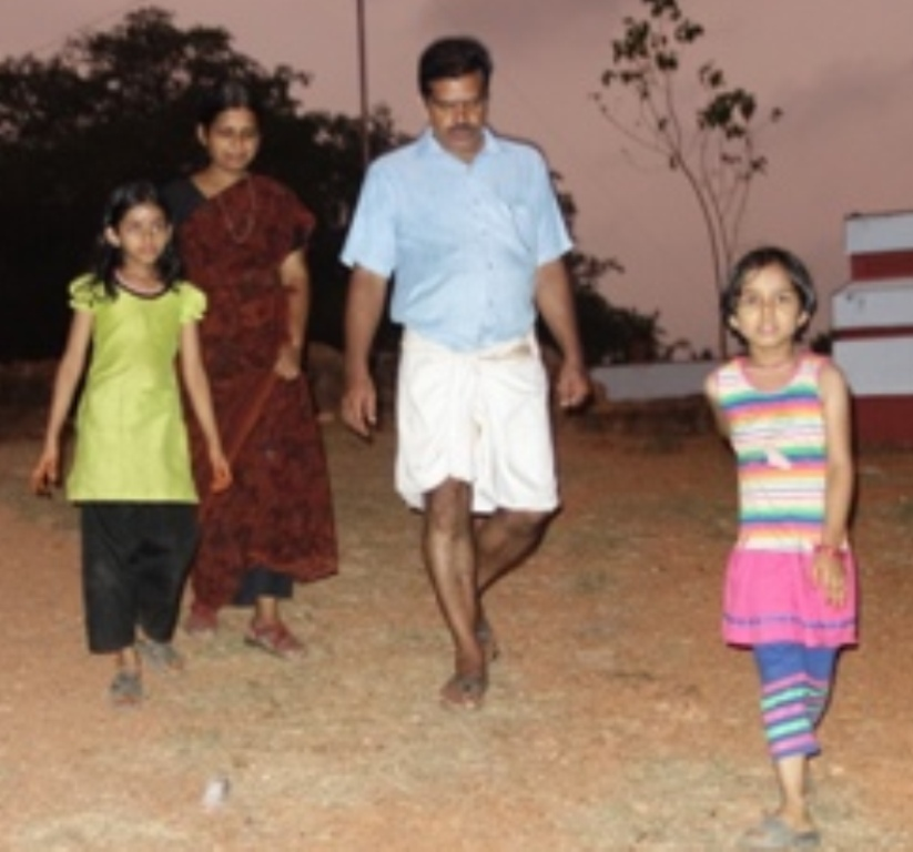PK Sankaranarayanan with Family