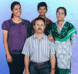 Mohankumar P with Family
