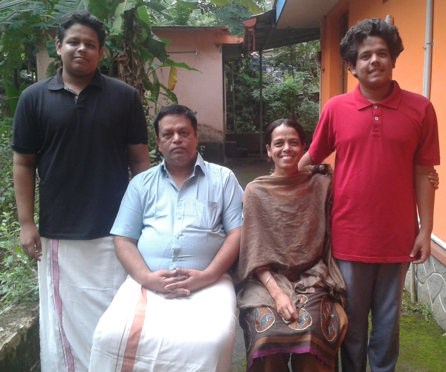 Krishnan P V with Family
