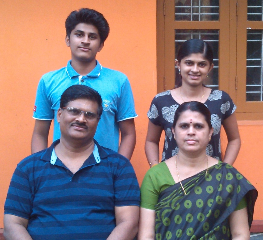 PK Kuttan with Family