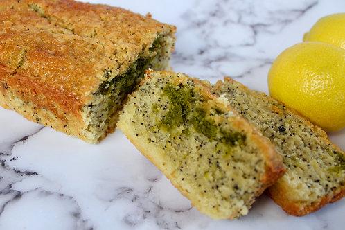 Lemon Poppyseed Matcha Poundcake - Medium (GF, DF*)