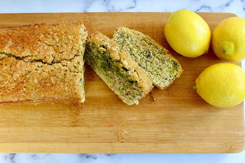 Lemon Poppyseed Matcha Poundcake - Large (GF, DF*)
