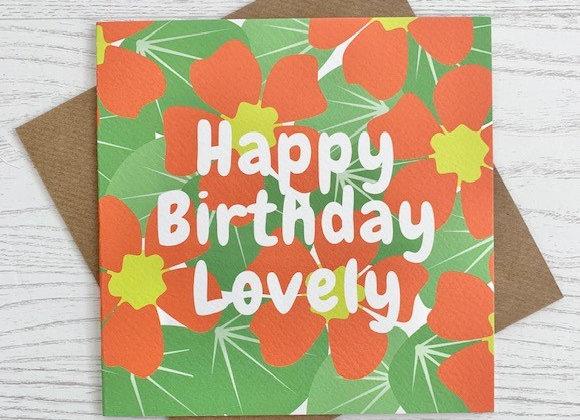 Greeting Card - Happy Birthday Lovely