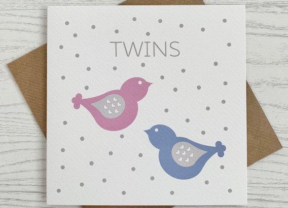 Greeting Card - Twins